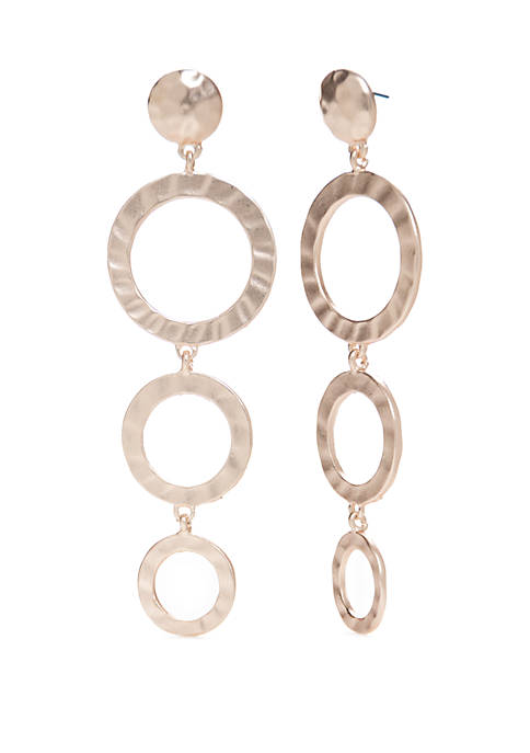 Kaari Blue™ Rose Gold-Tone Triple Circle Drop Earrings