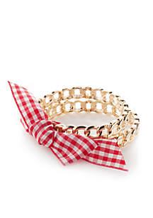 Gold-Tone 2 Bangle Bracelet Set
