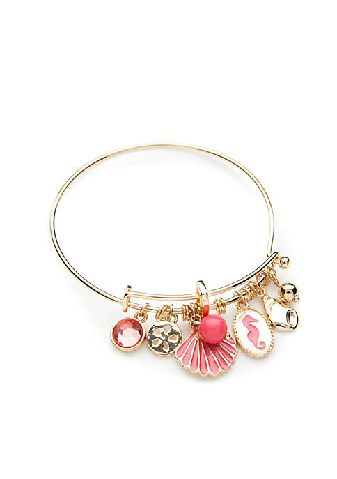 Crown & Ivy™ Shell Charm Bracelet