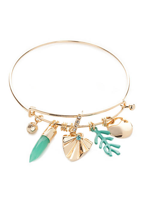 Crown & Ivy™ Gold-Tone Montauk Weekend Palm Charm