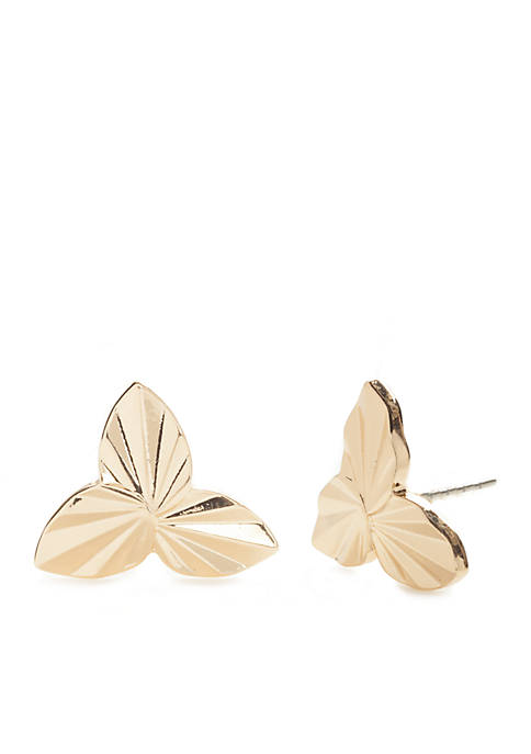 Crown & Ivy™ Gold-Tone Stud Earrings