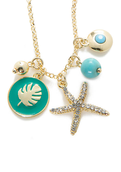 Crown & Ivy™ Gold-Tone Montauk Starfish Charm Necklace