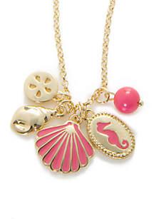 Gold-Tone Montauk Shell Charm Necklace