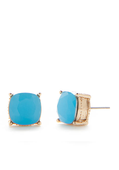 Crown & Ivy™ Gold-Tone Sorbet Fun Stud Earrings