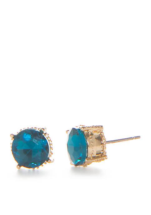 Crown & Ivy™ Gold-Tone Capri Stud Earrings