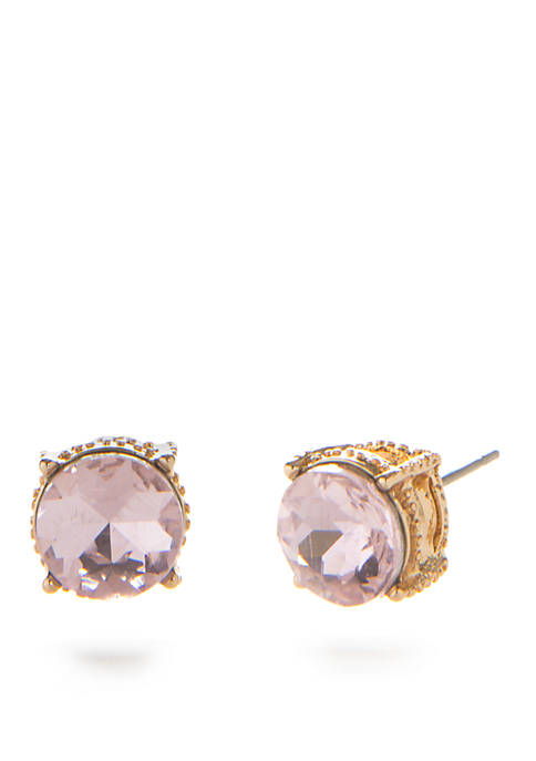 Crown & Ivy™ Gold-Tone Light Stud Earrings