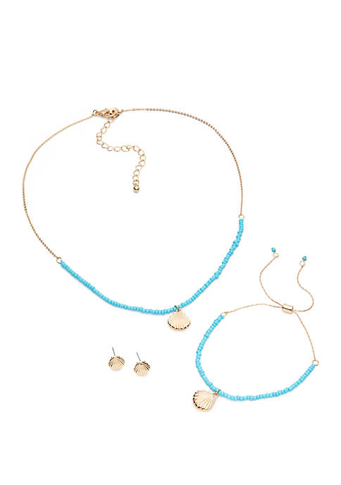 Crown & Ivy™ 3 Piece Tropical Carded Necklace