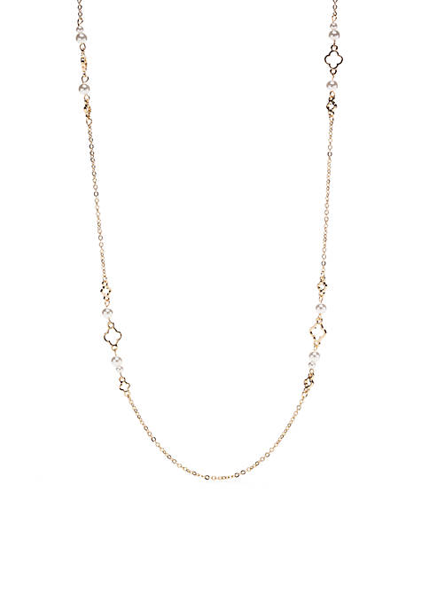 Gold-Tone QF Station Necklace