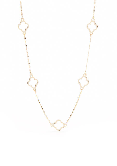 Crown & Ivy™ Gold-Tone QF Short Necklace