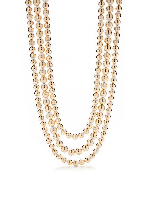 Crown & Ivy™ Gold-Tone Preppy Picnic 3 Row