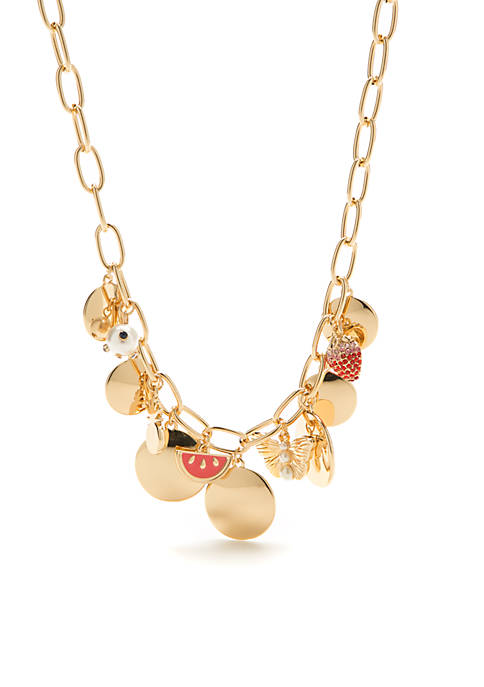 Crown & Ivy™ Gold-Tone Picnic Party Pearl Disc