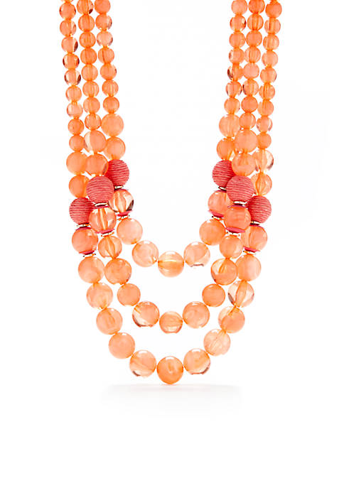 Crown & Ivy™ Bead Layer Necklace