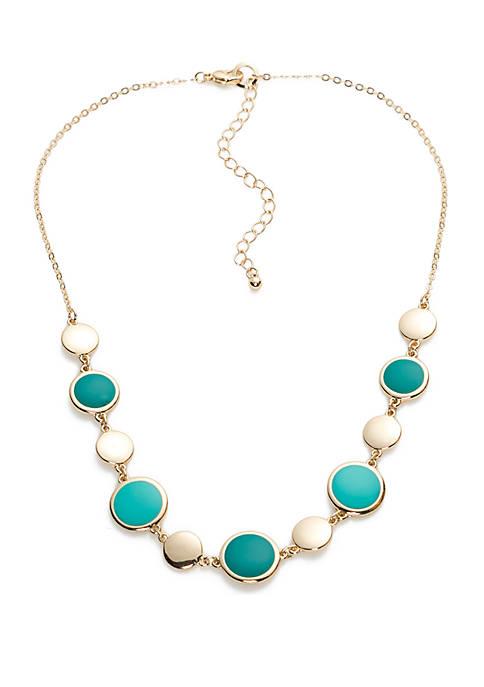 Short Turquoise Single Strand Necklace