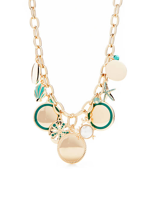 Crown & Ivy™ Gold-Tone Montauk Weekend Cluster Necklace