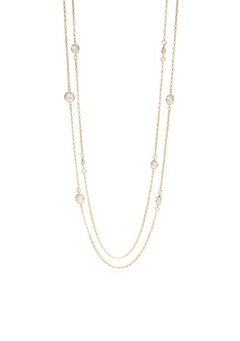 Gold-Tone Double Strand Necklace