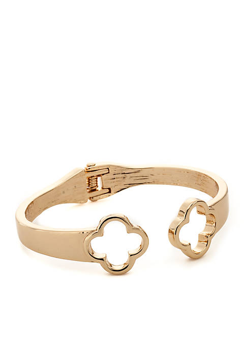 Crown & Ivy™ Gold-Tone QF Hingle Bracelet