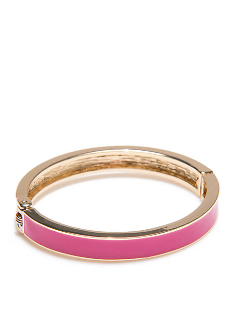 Crown & Ivy™ Gold-Tone Solid Bangle