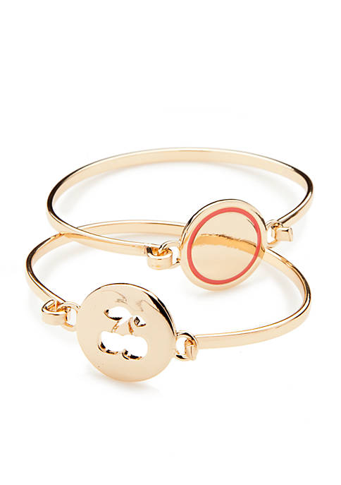 Crown & Ivy™ Gold-Tone Picnic Party Cherry Bangle
