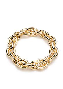 Crown & Ivy™ Gold-Tone Metal Link Bracelet