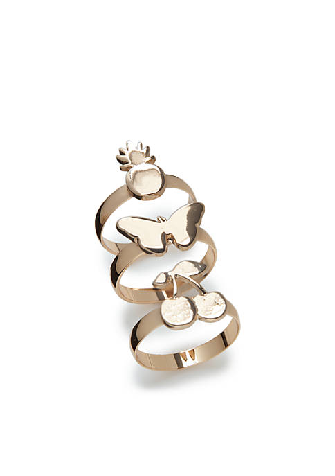 Crown & Ivy™ Cherry Ring Set