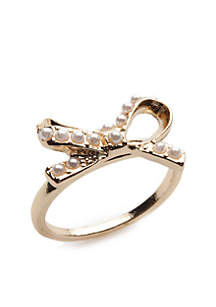 Gold-Tone Bow Ring
