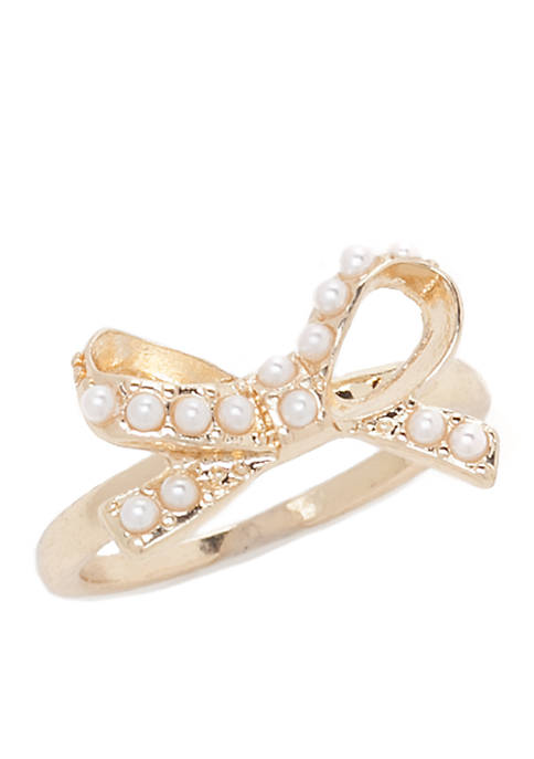 Crown & Ivy™ Bow Ring
