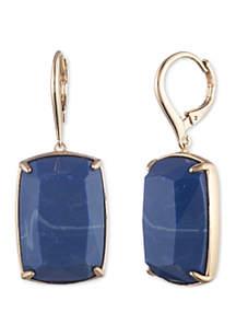 Gold-Tone Leverback Drop Earrings
