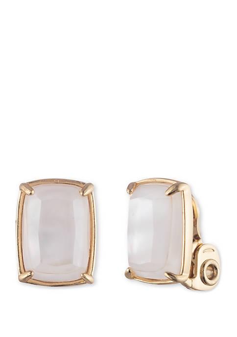Gold-tone EZ Comfort Clip Button Earrings
