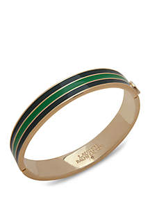 Lauren Gold Tone Multi Striped Bangle Bracelet