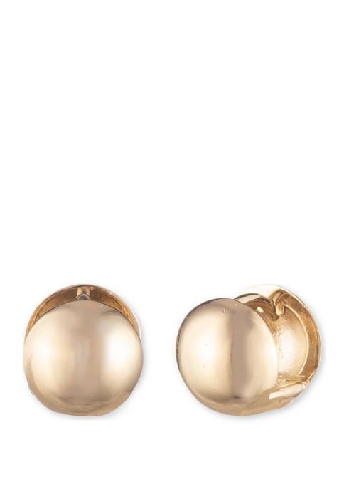 Metal Ball Huggie Hoop Earrings