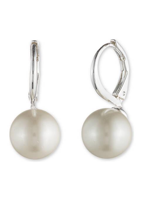 Lauren Ralph Lauren Silver Tone 10 mm Pearl