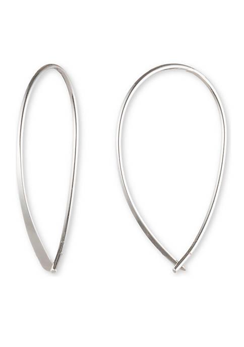Silver-Tone Metal Threader Earrings