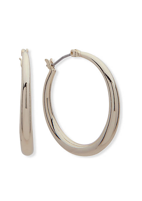Lauren Ralph Lauren Gold-Tone Gradual Hoop Earrings