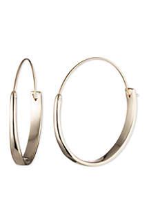 Gold-Tone Gold Basic Medium Hoop Earrings