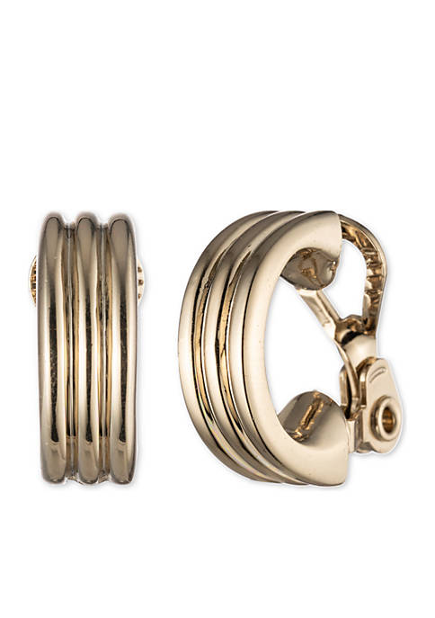 Lauren Ralph Lauren Gold-Tone Gold Basic Hoop Earrings
