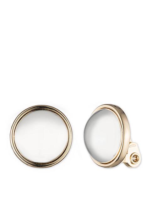 Lauren Button Clip Earring