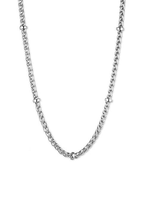 Lauren Braid Chain Collar Necklace