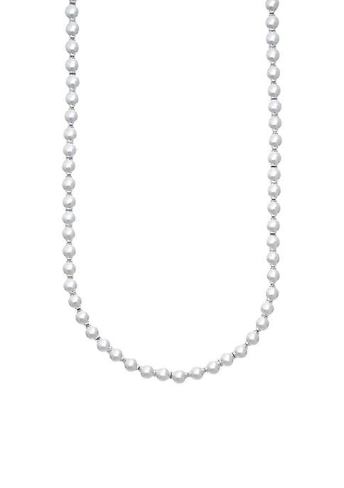 Silver-Tone Beaded Collar Necklace