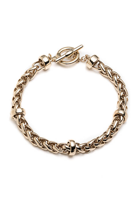 Lauren Ralph Lauren Gold-Tone Gold Basic Flex Chain