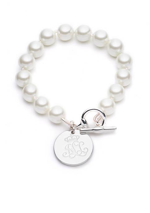 Lauren Pearl Line Bracelet