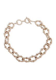 Gold-Tone Link Collar Necklace