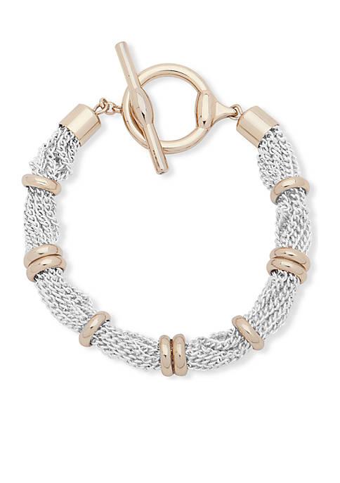 Lauren Two-Tone Hamilton Multi Row Bracelet