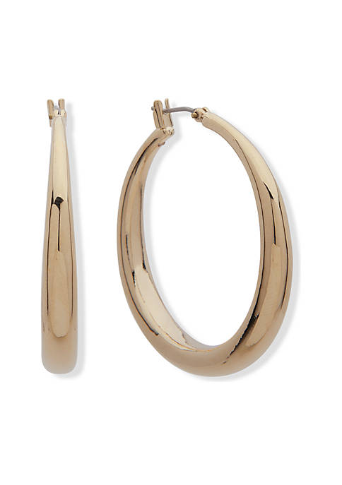 Lauren Ralph Lauren Gold-Tone Mckinney Large Hoop Earrings