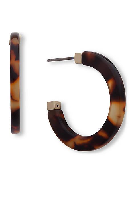 Lauren Ralph Lauren Gold-Tone Tortoise Hoop Earring
