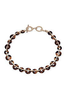 Gold-Tone Tortoise Link Collar Necklace