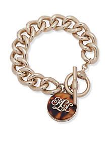 Gold-Tone Tortoise Logo Bracelet