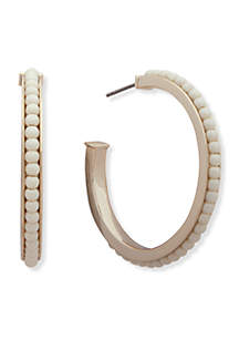 Gold-Tone Hoop with Pearls