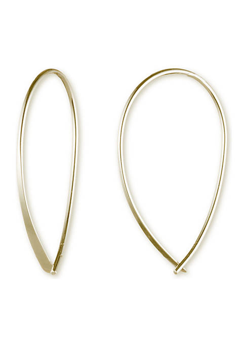 Lauren Ralph Lauren Gold-Tone Metal Threader Earrings