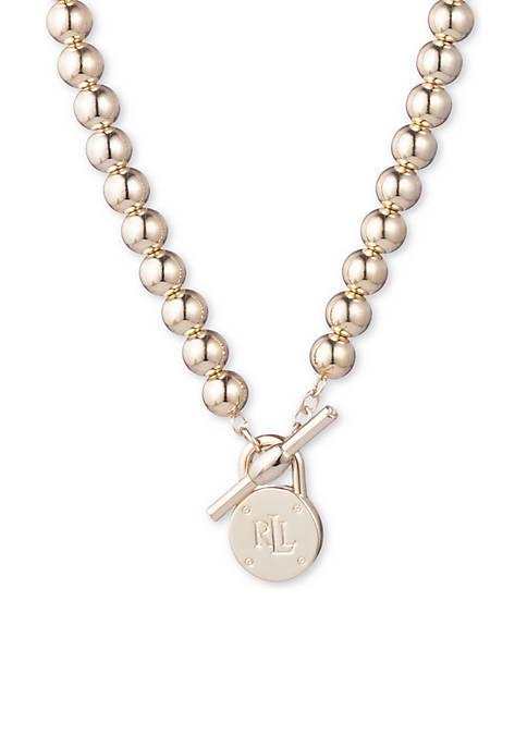 Beaded Logo Necklace