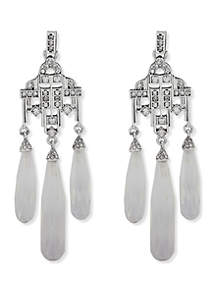 Silver-Tone and Crystal Chandelier Earrings